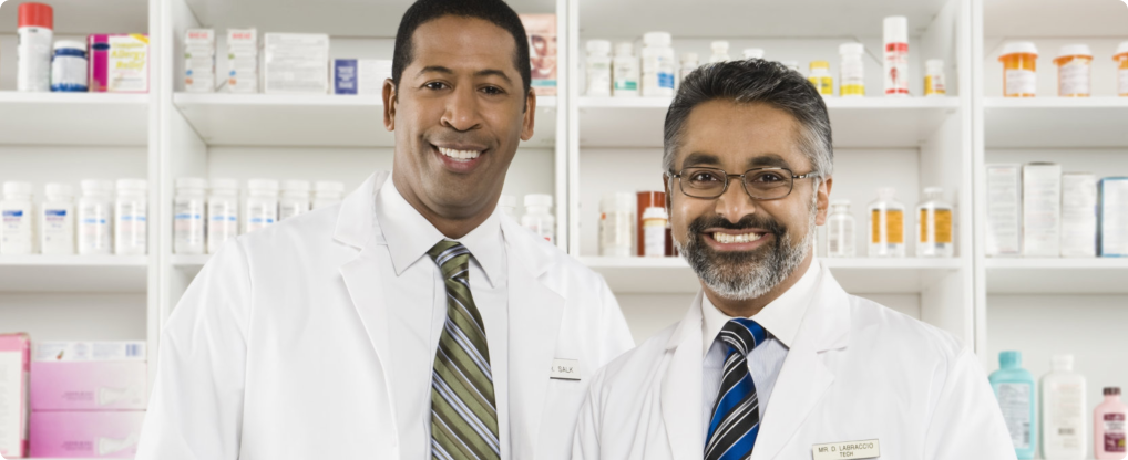 black american pharmacists smiling